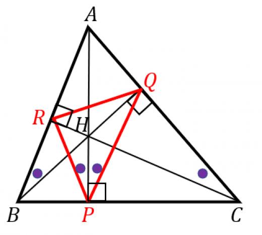 垂足三角形と内心