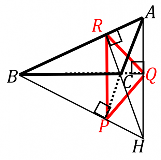 垂足三角形と傍心