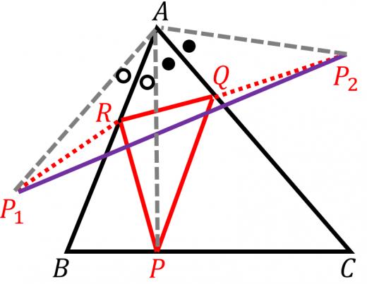 垂足三角形と線分和