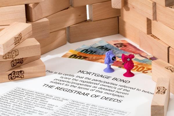 積み木と書類