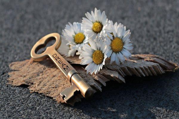 花と鍵の画像