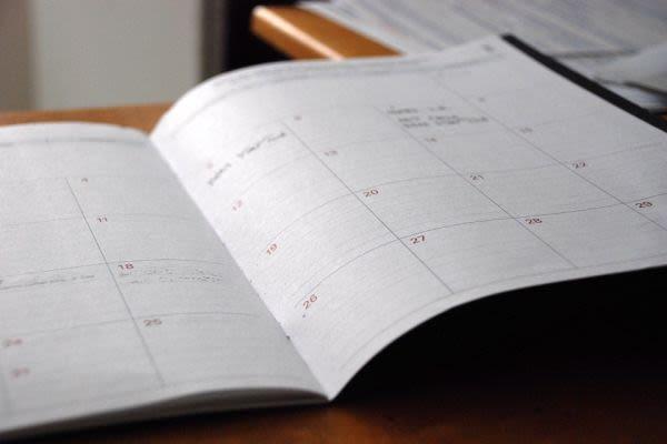 手帳での時期に関する画像
