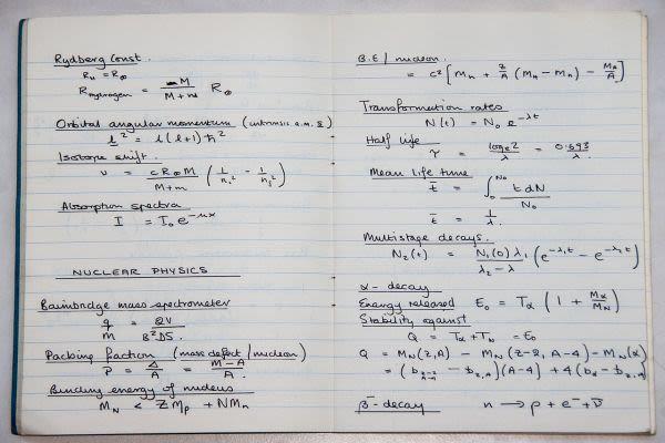 数学のノート
