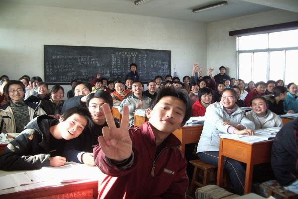 学校の生徒達