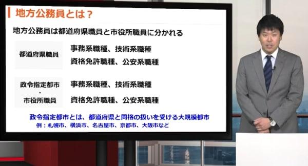 スタディング公務員講座の講義画面