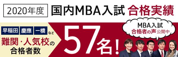 アガルートMBA講座の合格実績