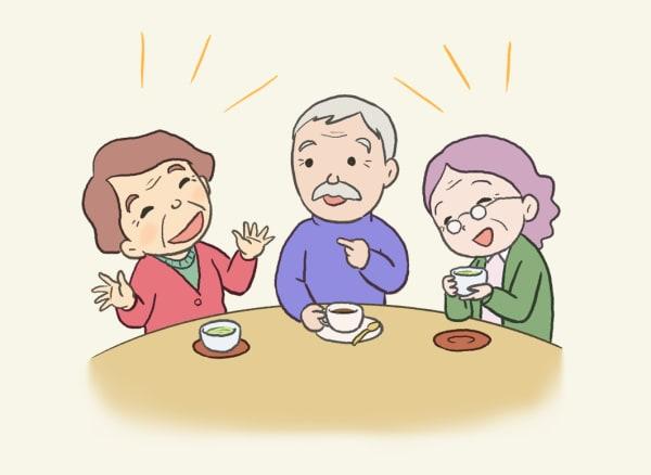 談笑する高齢者の方々