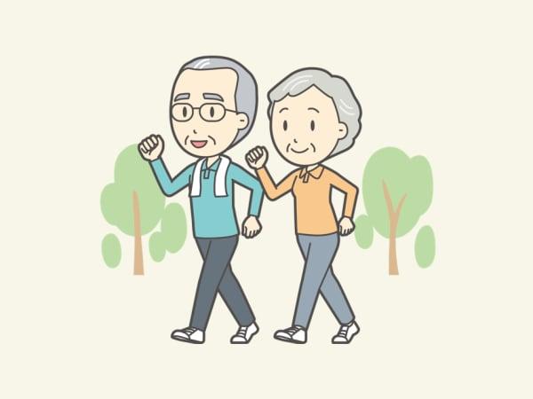 運動中の高齢者