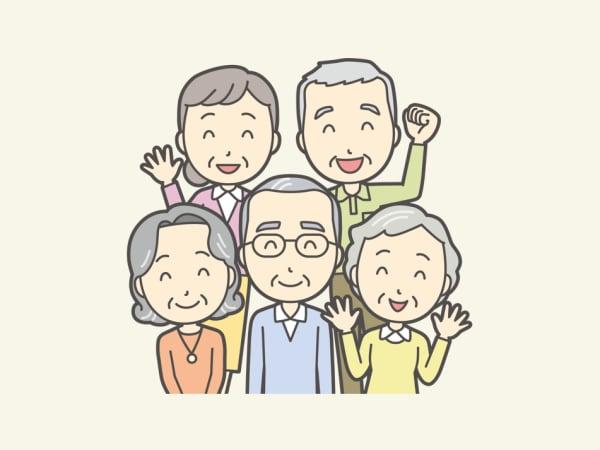 仲の良い高齢者イメージ