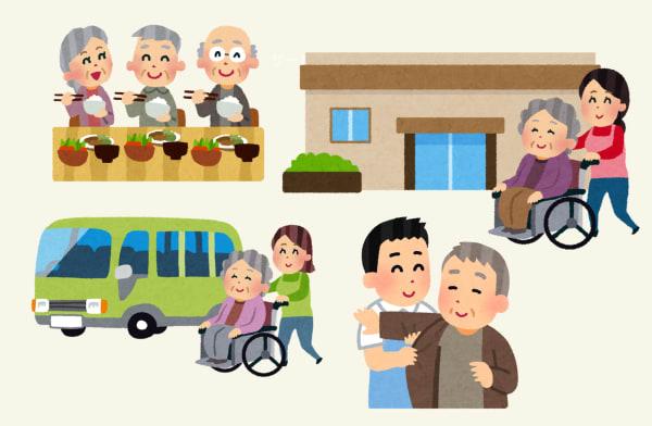 老人ホームを利用する高齢者