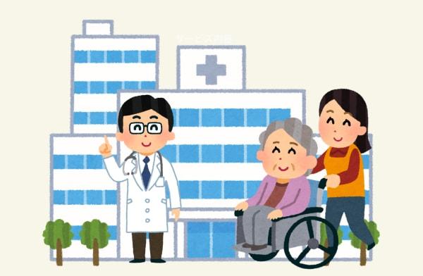 医療サービスを利用する高齢者