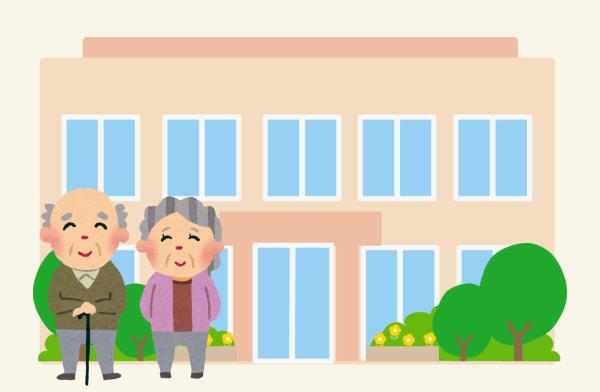 有料老人ホームで暮らす高齢者