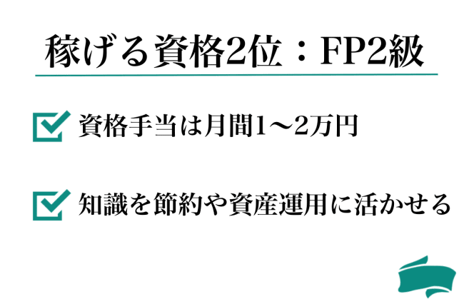 儲かる資格2位:FP2級