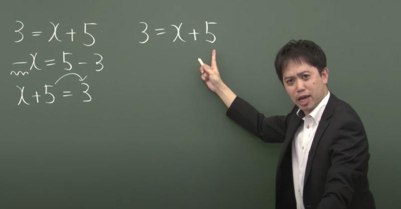 授業中の山内先生の画像