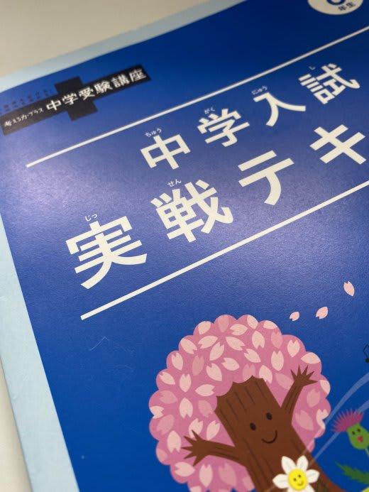 進研ゼミ中学入試実践テキストの画像