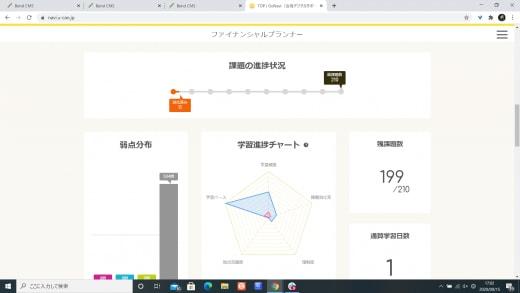 ユーキャンのスケジュール管理画面
