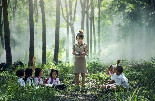 森の中の授業