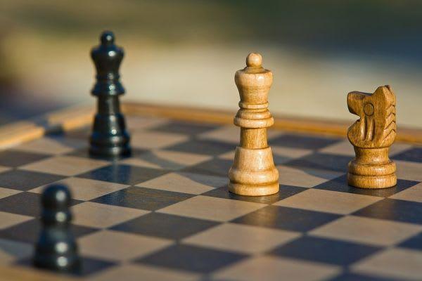 チェスの盤上