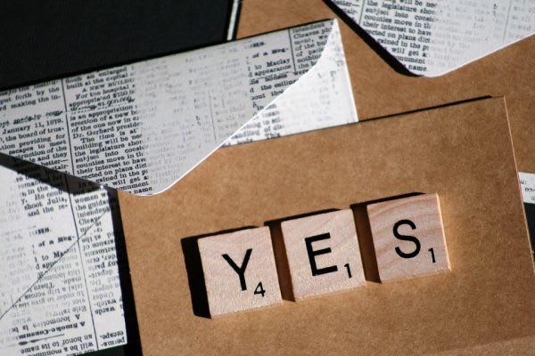 YESの文字