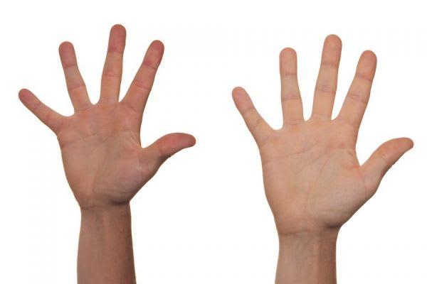 万歳する両手