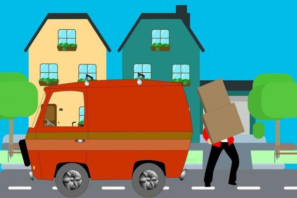 荷物を運ぶ現場