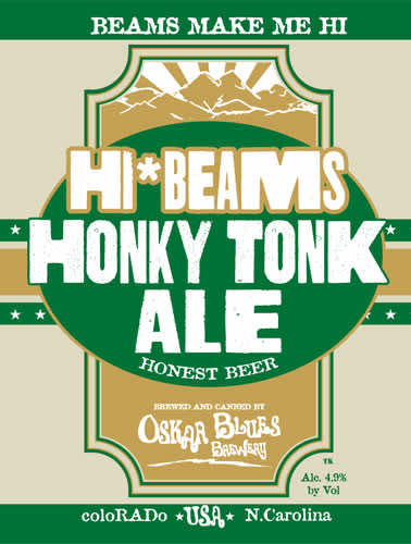 Hi*Beams Honky Tonk Ale Can Design.