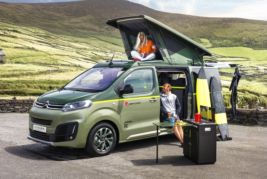 citroen spacetourer rip curl all wheel drive camper with a shower and a kitchen top auto blog. Black Bedroom Furniture Sets. Home Design Ideas