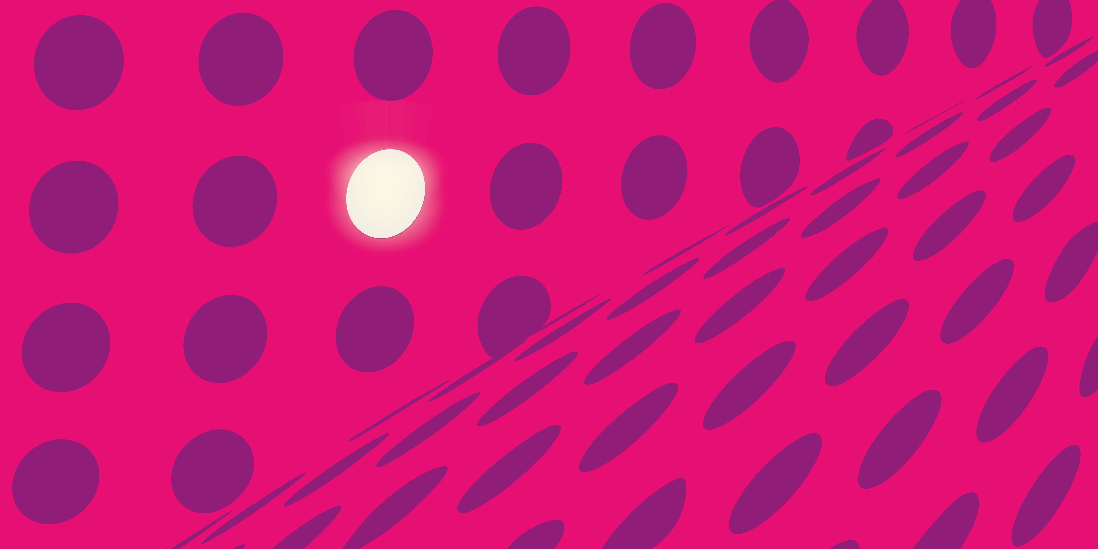 illustration avec plein de ronds éteints et au milieu un rond allumé