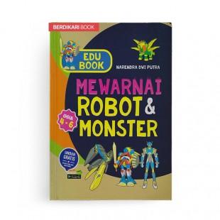Edu Book Mewarnai Robot dan Monster