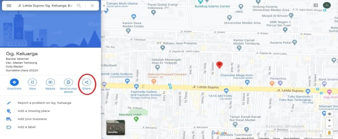 share link google maps
