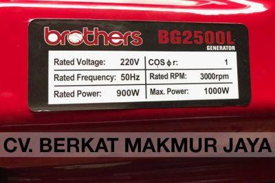 genset-brothers-BG2500L-spec