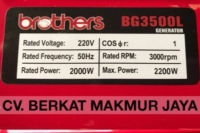 genset-brothers-BG3500L-spec
