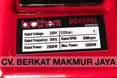 genset-brothers-BG4500L-spec