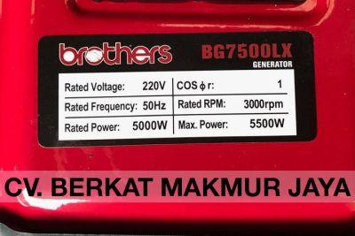 genset-brothers-BG7500LX-spec