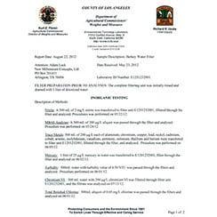 ULA Lab Test Results