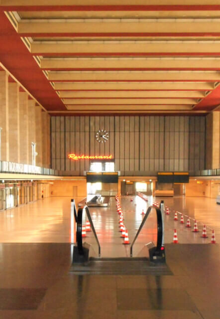 Former terminal of the airport Tempelhof in Berlin