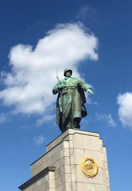 Statue of the soldier in the soviet Memorial Tiergarten in Berlin