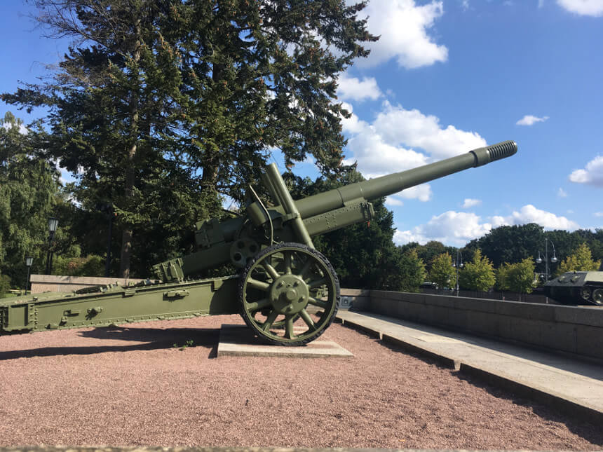 Cannon from the Russian Tiergarten Memorial in Berlin