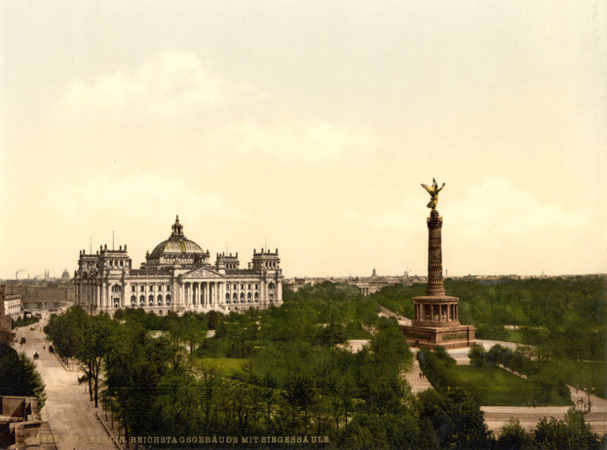 Column of Victory and Reichstag in 1900