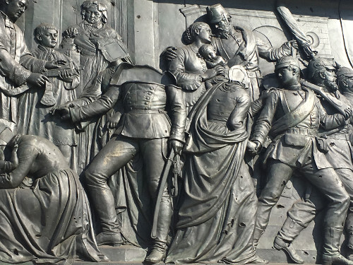 Bas-relief by Alexander Calandrelli on the Berlin victory column