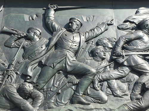 Bas-relief of the Berlin victory column representing the war