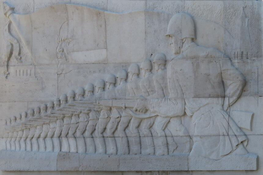 Sculpture at the Russian Memorial in Berlin Treptower Park