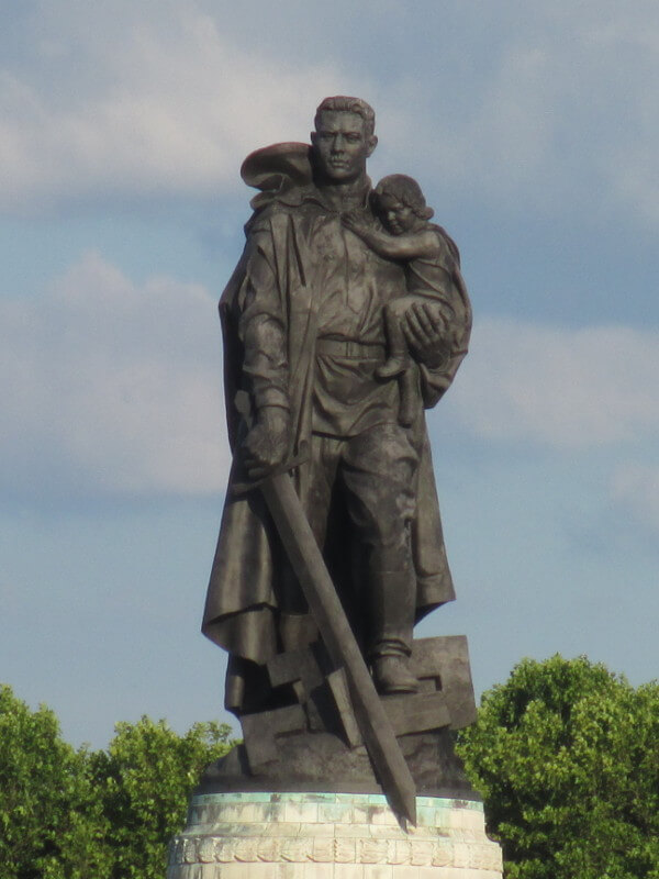 Statue of the liberating soldier at the Russian memorial in Treptower Park in Berlin