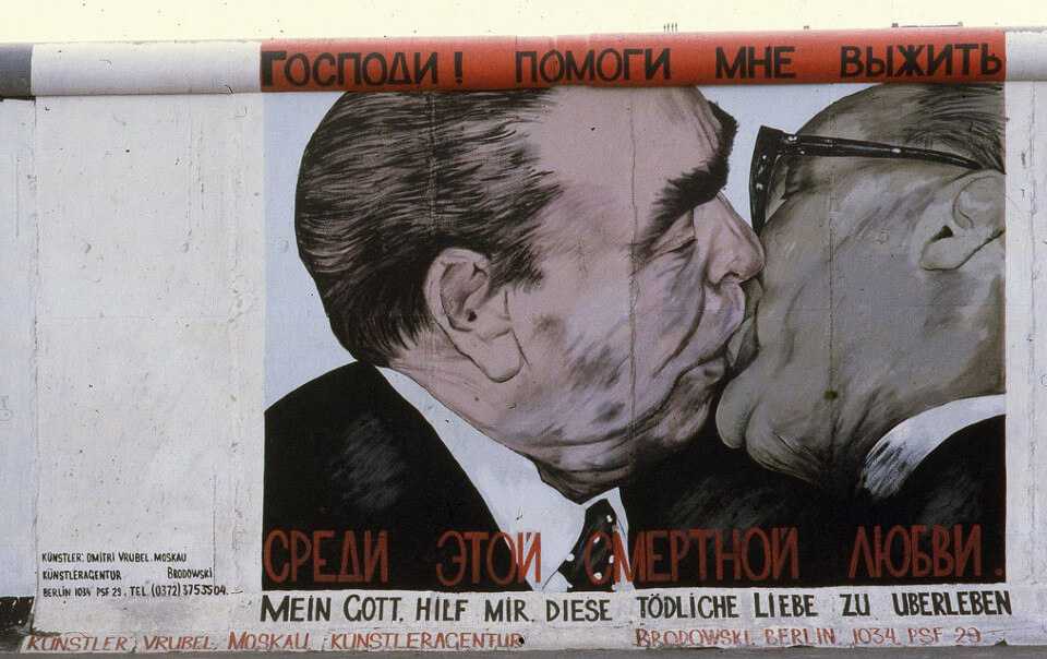 East Side Gallery Kiss on the Berlin Wall