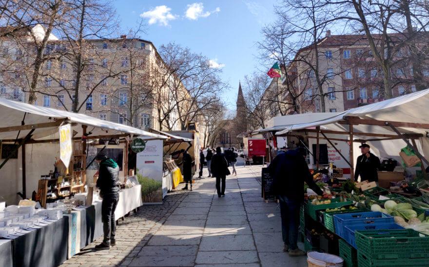 Weekly market Arkonaplatz Berlin Mitte Prenzlauerberg