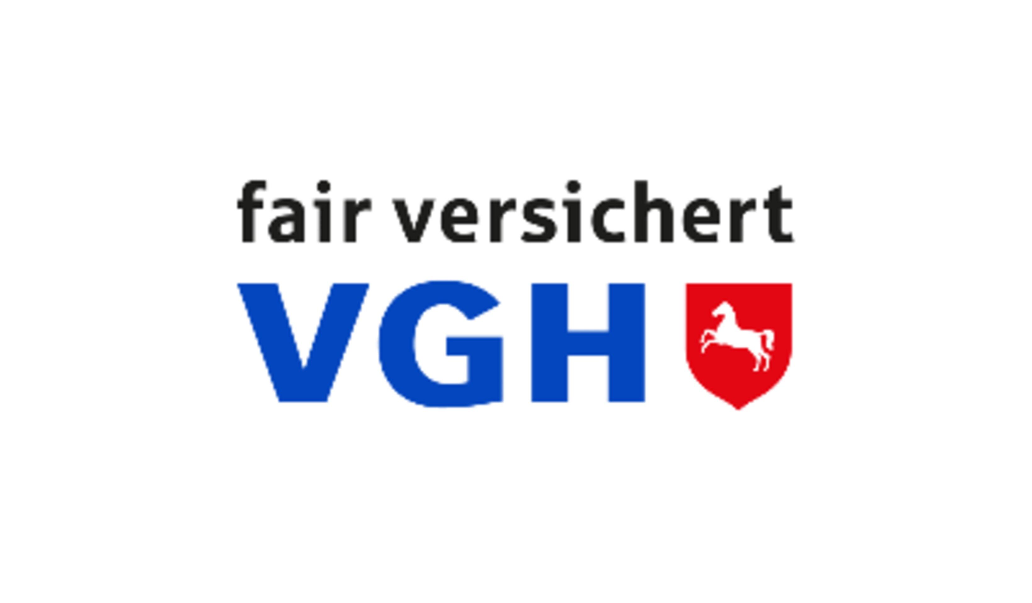 shows the logo from the company VGH Versicherungen