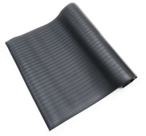 black anti fatigue mat ribbed
