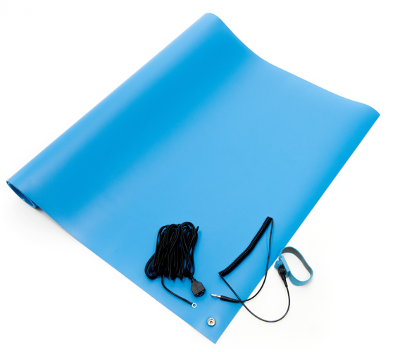 esd vinyl mat kit blue