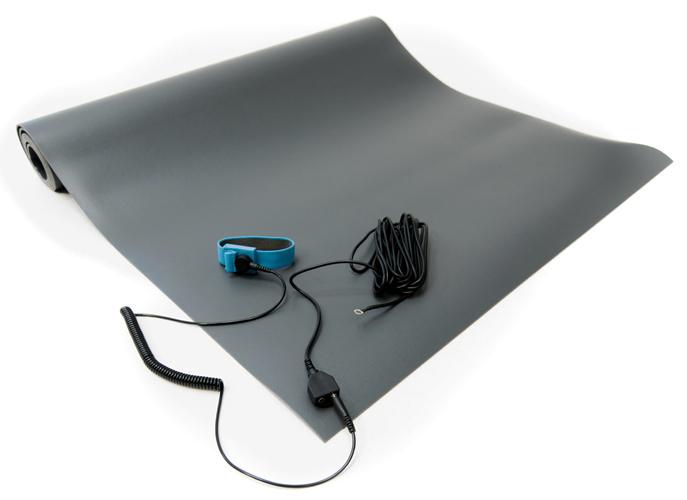 esd vinyl mat kit gray
