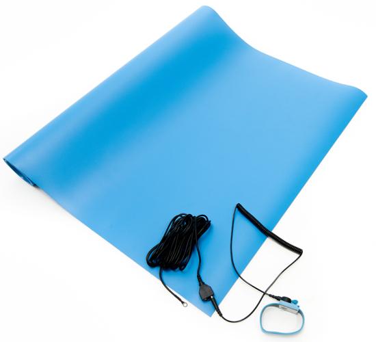 esd vinyl mat kit blue